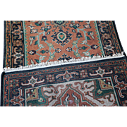 A Hand Knotted Wool Rug Indo Heriz