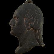 Vintage Cast Iron Historical Silhouette of George Washington's Profile