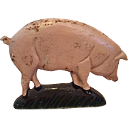 Charming and Rustic Vintage Cast Iron Piglet Doorstop...Very Cute!