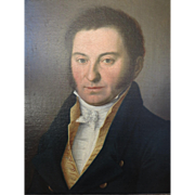 MAGNIFICENT Portrait in oil of a Gentleman, circa 1805