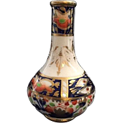 "Antique English Derby ""Sampson Hancock"" Imari Petite Porcelain Bud Vase, Circa 1862"