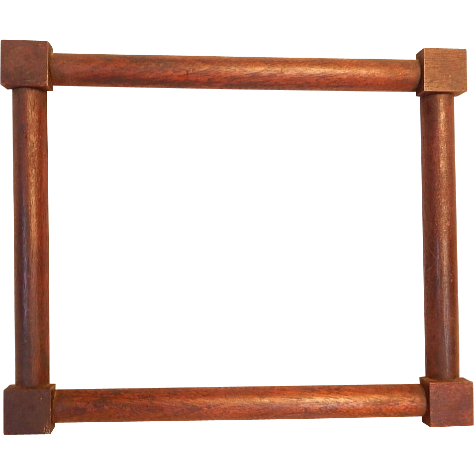 Antique small corner block walnut picture frame from for Picture frame corners