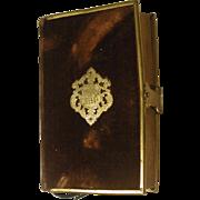 Small Velvet Brass Clad Bible 1853 English Eyre & Spottiswode