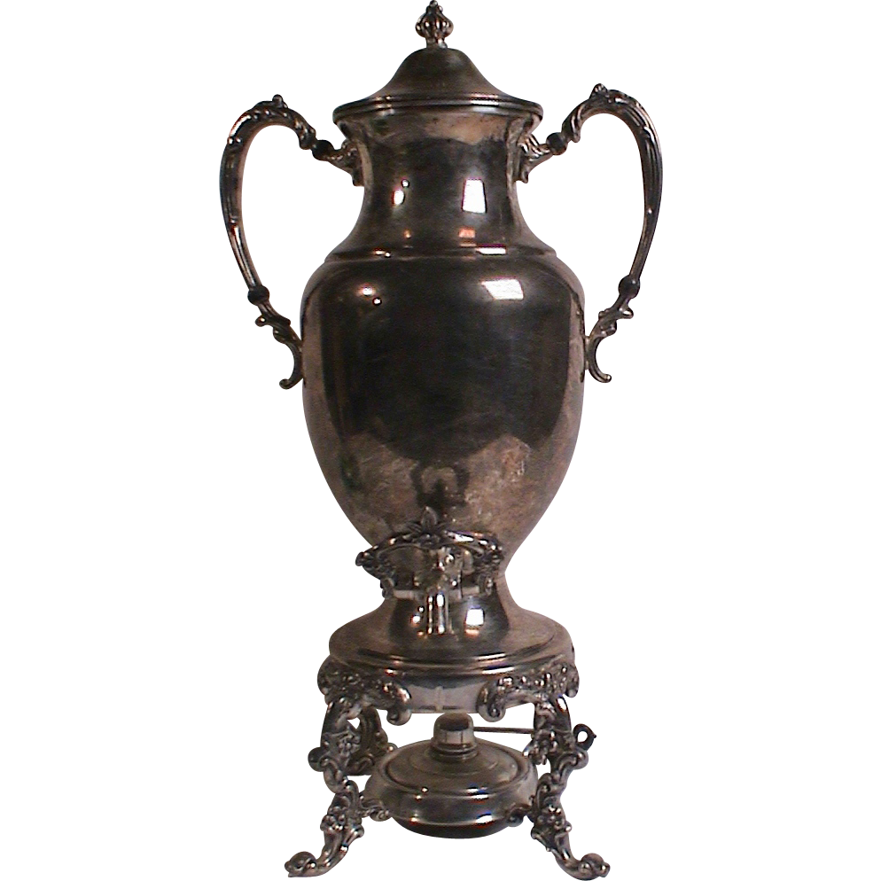 Image result for antique silver plate coffee urn