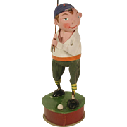 Vintage Germany Golfer Candy Container Paper Mache