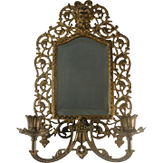 Ornate Bradley & Hubbard Candle Sconce Beveled Mirror Bacchus