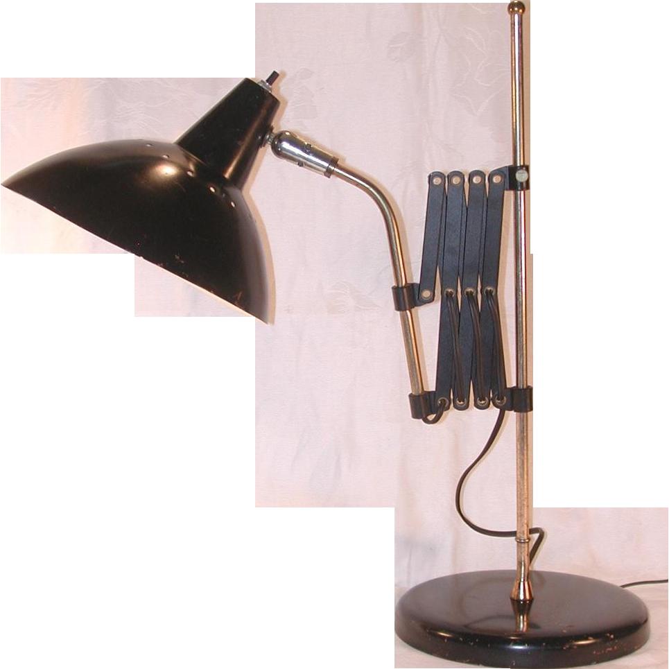 Mid Century Modern Scissor Table Desk Lamp Mad Men Era