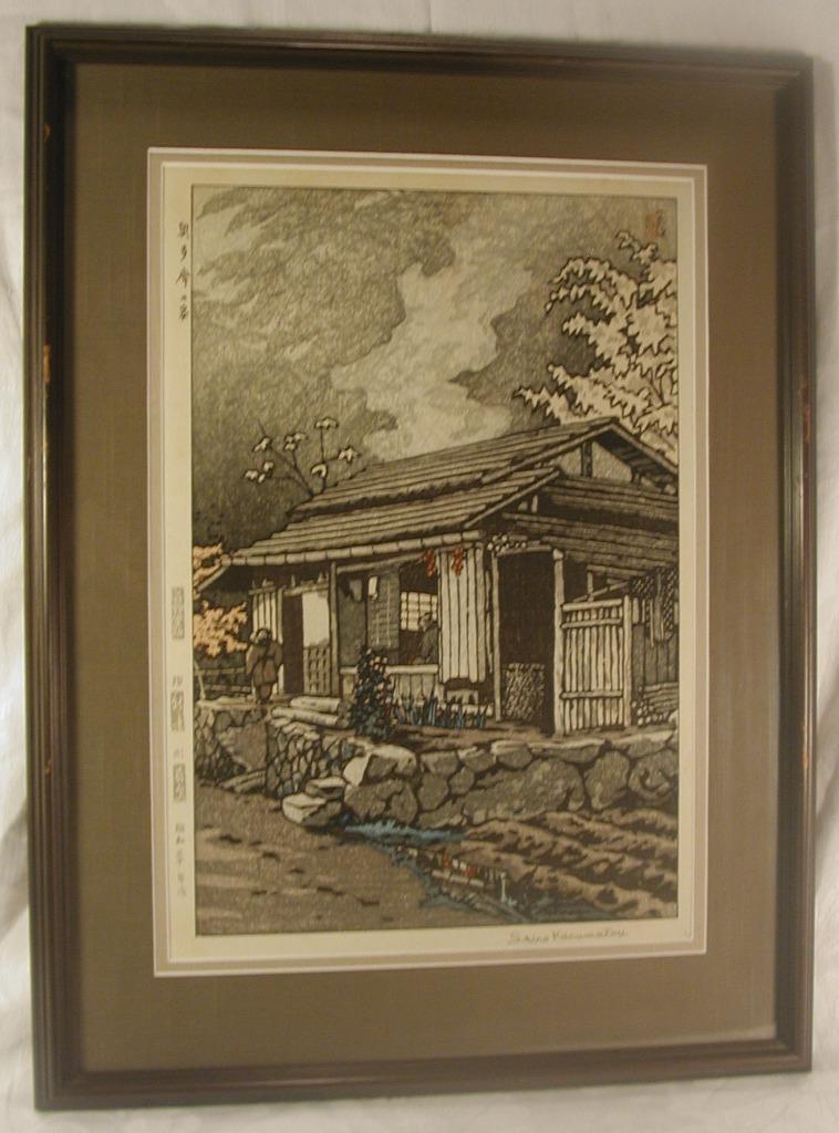Shiro Kasamatsu Japanese Color Woodblock Print Signed From