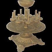 Victorian Cast Iron Sewing Thread Spool Pincushion Holder C.1870