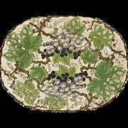 C.1820 Creamware Spode Grapevine Reticulated Plate Pearlware Glaze