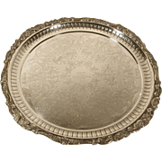 Wallace Baroque Silver Plate Serving Tray 18""