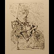 """Salvador Dali Original Etching """"El Cid"""""""