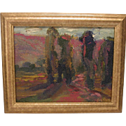 Modern California Impressionist Painting Signed Unknown Artist
