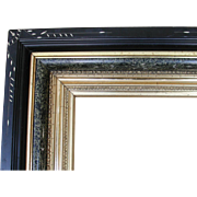 19th C. American  Aesthetic Ebonized Black & Gold Gilt Frame