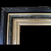 19th C. American  Aesthetic Ebonized Black & Gold Gilt Frame