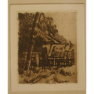 "Paul Cezanne Etching - ""Paysage a' Anvers"""
