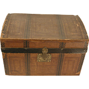 19th C. Small Doll Trunk  As Is