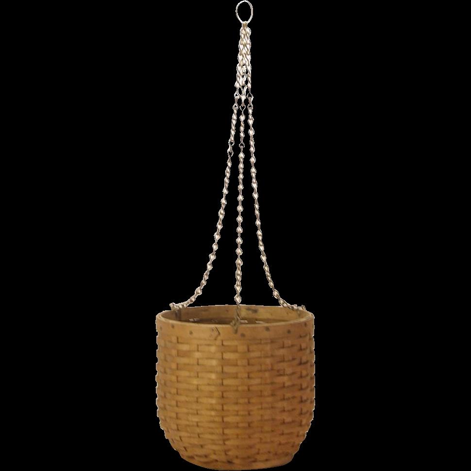 Handmade Small Baskets : C handmade small splint basket hanging planter from