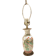 Small Hand Painted Porcelain Oriental Table Lamp