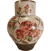 Wedgwood Victorian Hand Painted Art Pottery Vase with Poppies