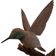 Carved Wood Hummingbird  Bird Jim Boice