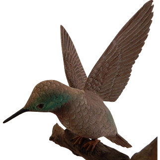 Carved Wood Hummingbird  Bird Jim Boice