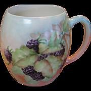 Limoges Tressemann & Vogt Blackberry Decorated Mug