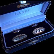 Fancy Antique Edwardian Gold Filled Paste Set Cufflinks