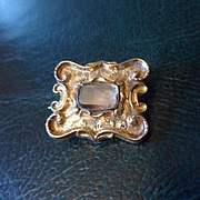 Tiny Antique Georgian 18ct Gold Mourning Brooch Pin
