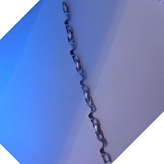 Funky Chunky Vintage 1970's Modernist Italian Designer Sterling Silver Bracelet