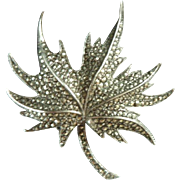 Marvellous Marcasite and Sterling Silver Art Deco Brooch