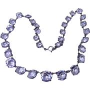 Sparkling Antique Edwardian Rock Crystal Riviere Necklace