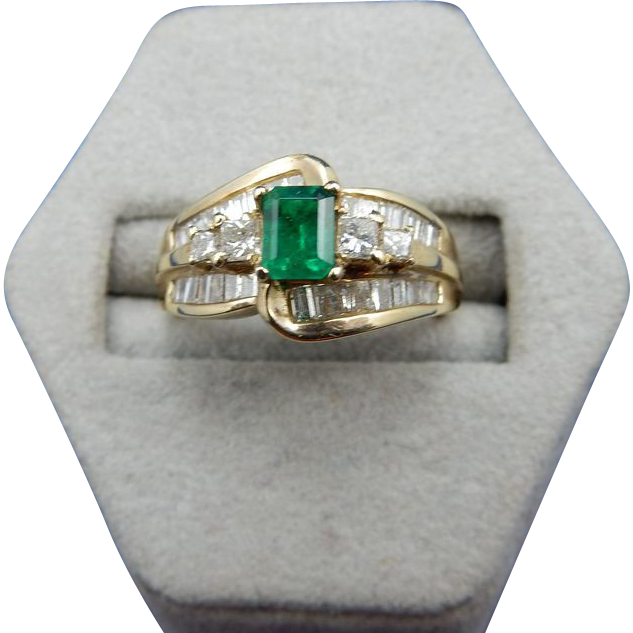 estate emerald and ring from shersbounty on ruby