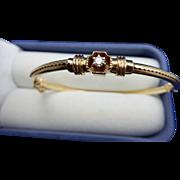 Diamond Etruscan Revival Bangle Bracelet