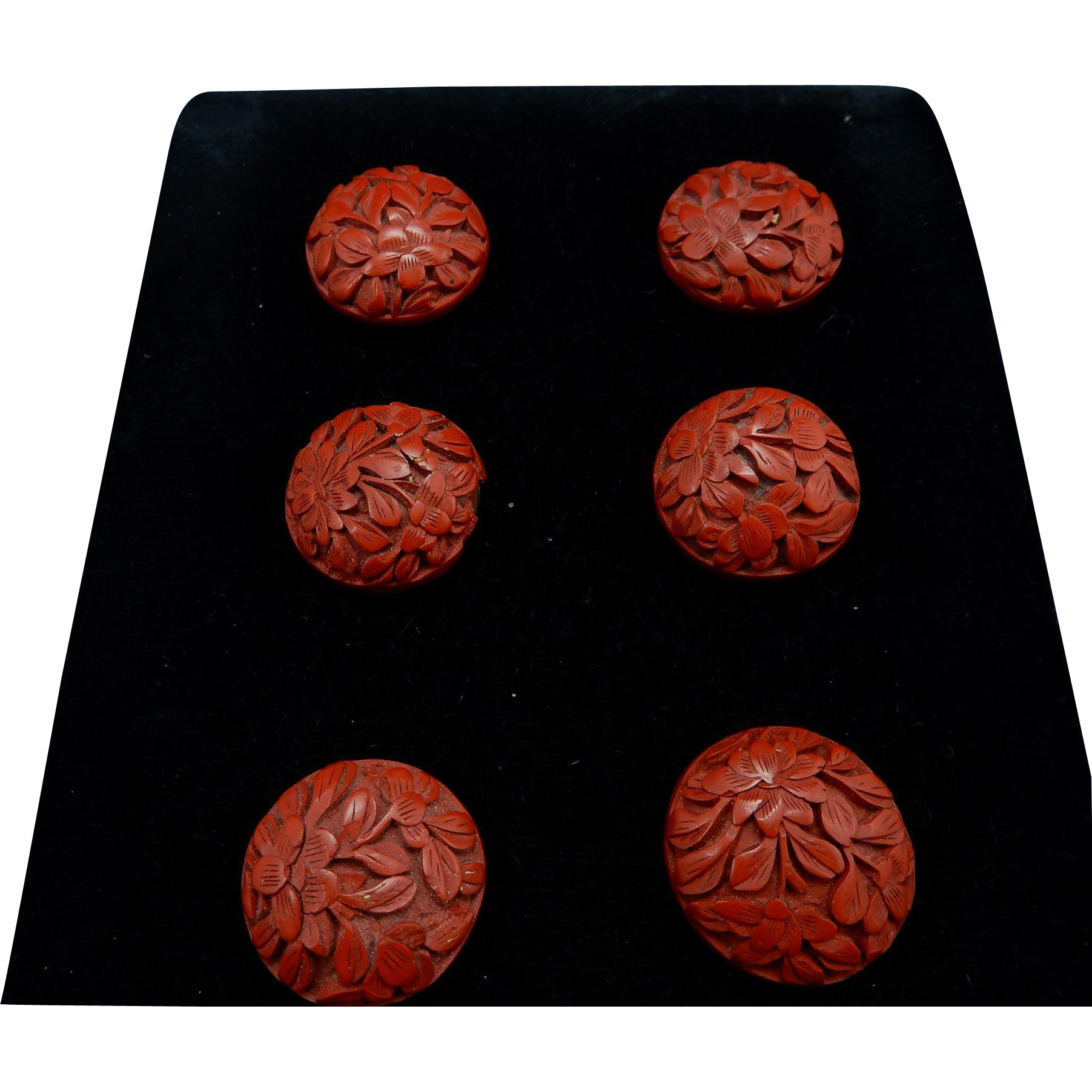 Vintage Cinnabar Laquor Buttons Sold On Ruby Lane