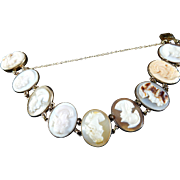 Vintage Gold Filled Multi-Colored Cameo Bracelet