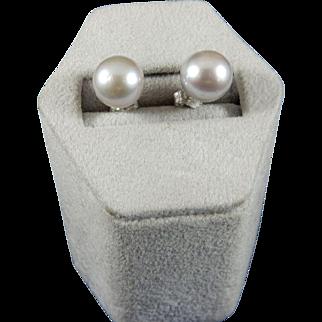 Silver Cultured Pearl Earrings