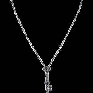 14 Karat Diamond Key Pendant