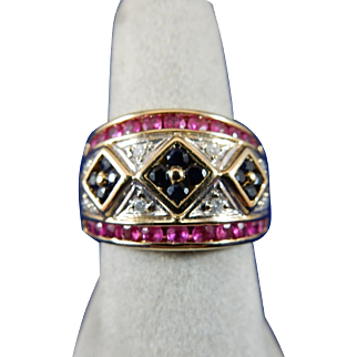 10 Karat Multi-Color Ring