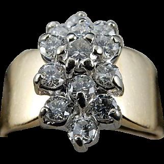 14 k Yellow Gold Diamond Ring