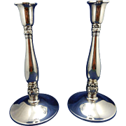 Sterling Silver Royal Danish Candlesticks