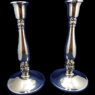 Sterling Silver Royal Danish Candlesticks