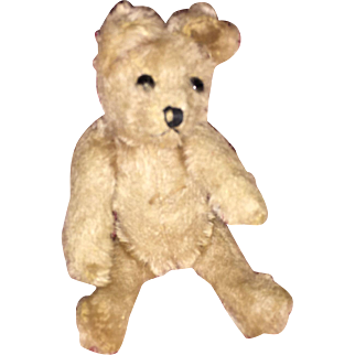 Old Jointed Mohair Miniature Teddy Bear