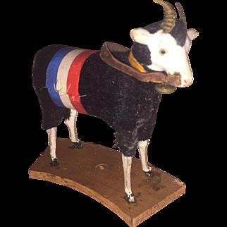 Fabulous Rare Black German Ram Wooly Putz Mohair Sheep