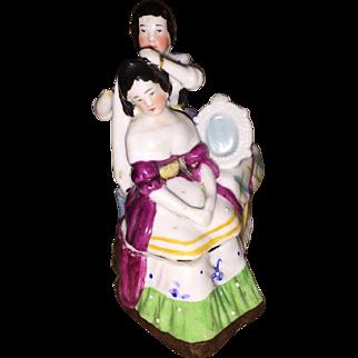 Antique Victorian German Porcelain Fairing As Found