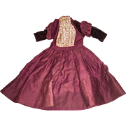 Antique Victorian Beautiful Doll Dress