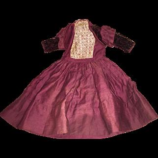 Antique Victorian Beautiful Doll Dress