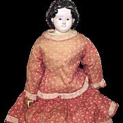Antique Paper Mache All Original Greiner Doll