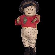 Antique Folk Art Cloth Miniature Boy Doll
