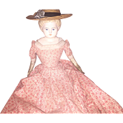 Antique German Paper Mache Cloth Body Doll